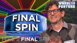 Mike's Impressive Final Spin Round!   Wheel of Fortune