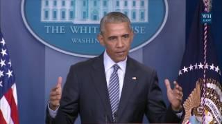 President Obama Holds a Press Conference