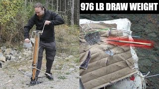 15th Century Windlass Spanned Crossbow - First Test