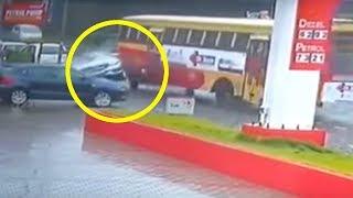 KSRTC Bus Hits  Mercedes Benz at Kottayam Kerala  Live Footage