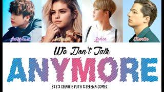 BTS (Jimin x Jungkook) x Selena x Charlie - We Don't Talk Anymore (Color Coded Lyrics/Eng)