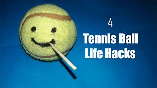 4 Clever tennis ball life hacks and usage with fun tutorials