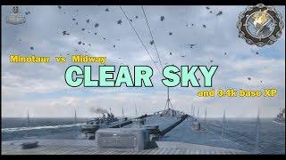 Minotaur  🇬🇧  3.4k base XP and Clear Sky    World of Warships