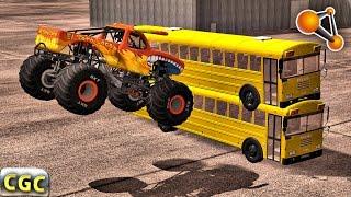Monster Truck Insane High Jumps BeamNG drive #1