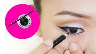 white eye shadow/makeup/eyemake/eyeline/nightout/eyeline/easy/howto/