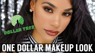 ONE DOLLAR MAKEUP SLAY | DOLLAR TREE MAKEUP CHALLENGE