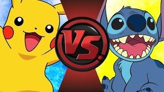 PIKACHU vs STITCH! Cartoon Fight Club Episode 85