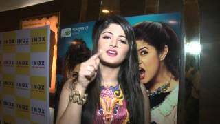 Srabanti's reaction after the Grand Premiere of Katmundu