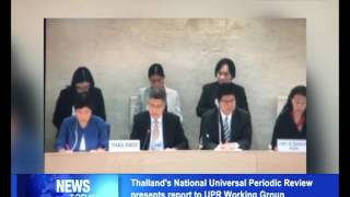Thailand presents National Universal Periodic Review report to UPR Working Group