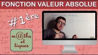 Etudier les variations de la fonction valeur absolue - Première