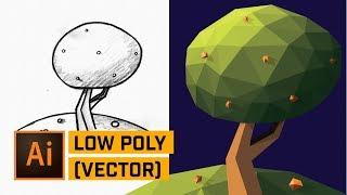 Low Poly Illustrator Tutorial