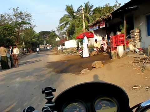 Tradition Hindu village at dawn. Karnataka, India.
