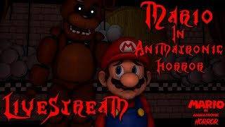 RoxasXIIIkeys plays: Mario In Animatronic Horror | Guest Starring: Bonniefan 3000 and Dark Box