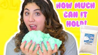 HOW MUCH CAN SLIME HOLD PART 4   cream cloud fluff, paint, lotion   Slimeatory #181