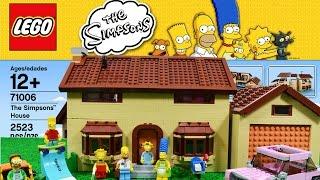LEGO Simpsons - A Casa dos Simpsons em Portugues Completo - The Simpsons House Time Lapse