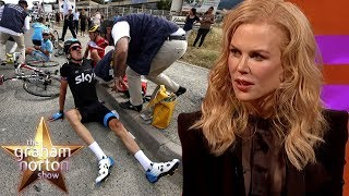 Nicole Kidman Stunned By Geraint Thomas' Broken Pelvis | The Graham Norton Show