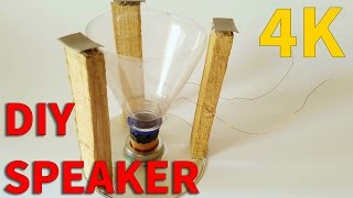How to Make a Speaker at Home using Thums Up Bottle | UHD 4K