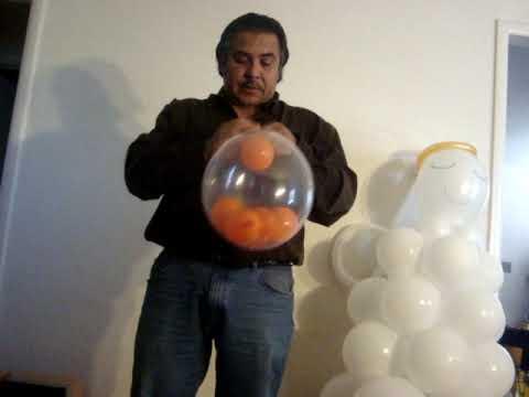 FIGURA GLOBOS DENTRO DE GLOBO BALLOON IN A BALLOON CURSO GLOBOFLEXIA CON MR CROIX
