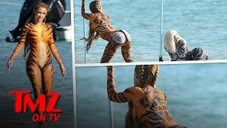 Cardi B Shoots A WILD Video In Full body Paint | TMZ TV