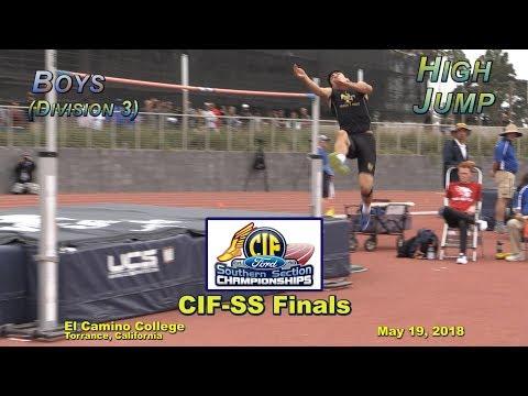 2018 TF - CIF-ss FINALS - High Jump (Boys - D3)