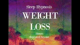 😴 3 hours repeated loop ~ Sleep hypnosis for weight loss with mindful awareness