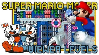 Super Mario Maker - Cuphead, 1 Screen puzzle, & more - Viewer Levels