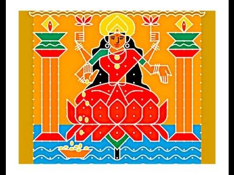 Xxx Mp4 How To Make Goddess Lakshmi Rangoli Sacred Symbols To Invite Goddess Lakshmi Mahalakshmi Drawing 3gp Sex