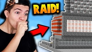 OUR FIRST RAID OF THE SEASON!! (Minecraft Ice Factions #36)