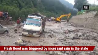 NH-3 blocked after part of road washes away in flash flood in Kullu