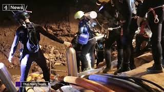 Cave Rescue Under Way To Get Boys in Thai!!