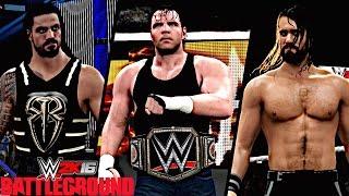 WWE Battleground 2016: Dean Ambrose vs Seth Rollins vs Roman Reigns (WWE World Heavyweight Title)