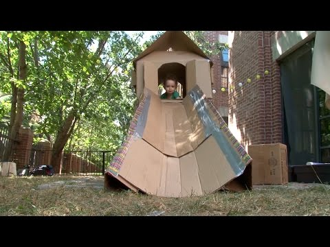 Daddy Engineer Cardboard Playhouse Design Squad