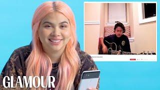 Hayley Kiyoko Watches Fan Covers on YouTube   Glamour