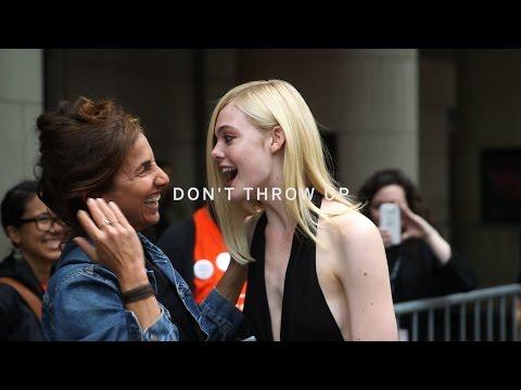 ELLE FANNING | Don't Throw Up! | TIFF15