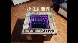 Making a LED coffee table out of pallets