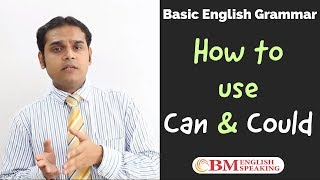 English Grammar Lessons Modal Verbs  - Can & Could