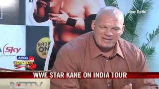 WWE star Kane on India tour