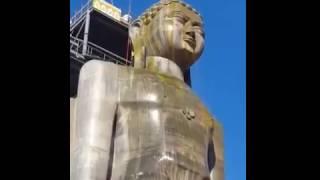 Rishabhdev Bhagwan abhishek 2 @ mangi-tungi (Statue of Ahimsa)