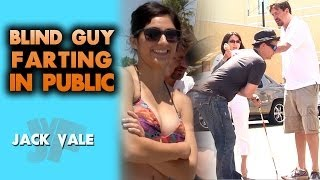 Blind Guy Farting In Public!
