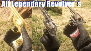 Red Dead Redemption 2 - All Legendary Guns & Unique Revolver Location