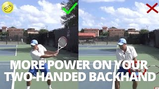 Tennis Tip: More Power On Your Two-Handed Backhand
