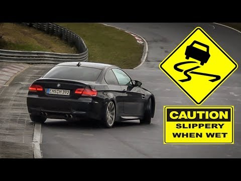 WHEN IT RAINS AT THE NÜRBURGRING, THE RWD's COME OUT TO PLAY - 01 04 2018 Nordschleife