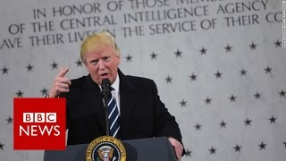 "Donald Trump to CIA ""I love you, I respect you"" - BBC News"