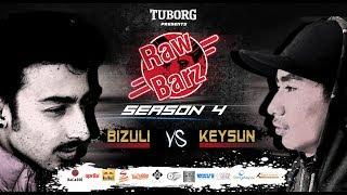 Keysun Vs Bizuli (Official Video) | Tuborg Presents RawBarz Rap Battle S4E5 2018