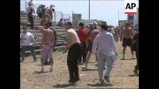 FRANCE: MARSEILLE: WORLD CUP SOCCER FAN RIOTS CONTINUE