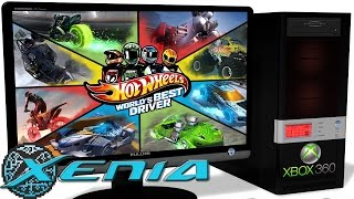 XENIA Xbox 360 Emulator - Hot Wheels: World's Best Driver (2013). Ingame. Vulkan. Test #2