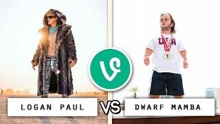 Logan Paul vs Dwarf Mamba Vine Battle 🔥🥊 / Who's the Best