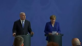 FULL: Netanyahu-Merkel Press Conference on Iran Deal