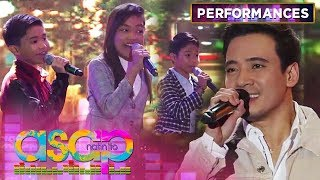 Erik together with The Voice Kids Top 3 perform with the OFWs from Hong Kong | ASAP Natin 'To