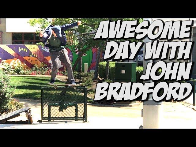 JOHN BRADFORD SKATING THE STREETS !!! - A DAY WITH NKA -
